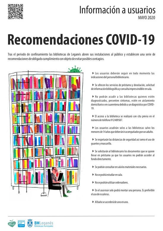 Recomendaciones en la reapertura de la biblioteca
